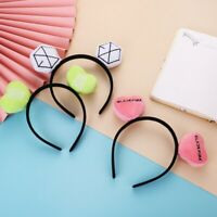 Kpop NCT BLACKPINK EXO Logo Plush Headband GOT7 TWICE Cute Hair Band Hoop Gift