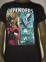 Juniors M-XL Black Marvel Comics The Defenders Daredevil Iron Fist Jessica Shirt