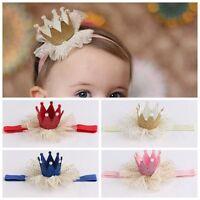 Cute Kids Baby Girl Lace Crown Hair Band Headwear Headband Hairband Accessories