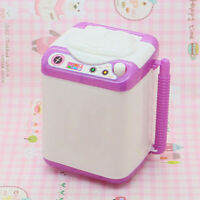 SILICONE MINI WASHING MACHINE TOY DOLL HOUSE FURNITURE GIFT FOR BARBIE SMART