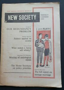 New Society journal / magazine No.1- First ever issue 1962 Social Science Weekly
