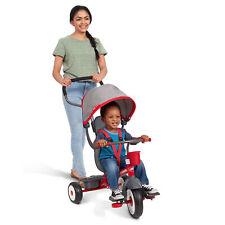 Radio Flyer EZ Fold 4-in-1 Stroll 'N Trike Infant Toddler Stroller Tricycle, Red