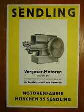 SENDLING Benzinmotoren WS 304 + WS 356 + WS 308 + WS 310 + WS 314 Prospekt