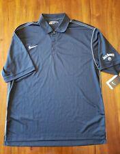 Nike Golf Men's Dri-Fit Black White Striped Short Sleeve Polo Shirt Jack Daniels