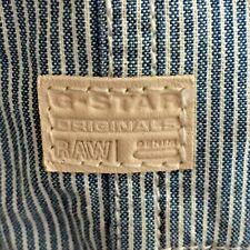 GSTAR Raw Denim Original SHIRT Blue White Striped Casual G Star MENS Size M