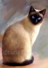 ACEO art print Cat 613 siamese from original artwork by L.Dumas