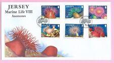 JERSEY Post 2010  FDC - MARINE LIFE VIII - ANEMONES - Special Handstamp