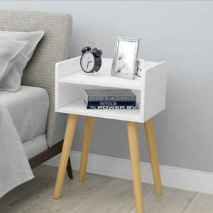 Bedside Tables Cabinet Cupboard Nightstand Storage Organizer Shelving Rack UK