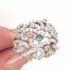 Ring in 18k White Gold 2.00ct Fancy Colored Diamond Right-Hand