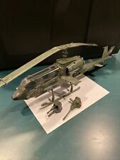 GI joe Dragonfly Helicopter Used Vintage With Guns