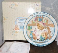 Cherished Teddies Mom Maker Of Miracles Plate Figurine Coa in Box 303046