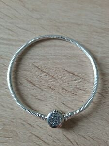 Bracelet couronné en argent S925  17cm Neuf