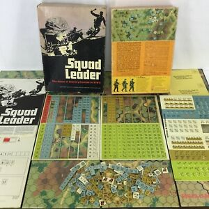 1st Edition Box Squad Leader The Game Of Infantry Combat WW2 Mostly Unpunched