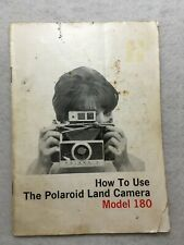 'How to Use The' Polaroid Land Camera Model 180 Instruction Guide Manual in ENG