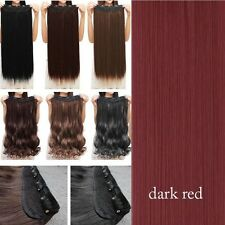 100% as remy human Hair Long Full Head Clip in on Hair Extensions Thick 145g
