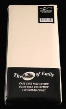 King Size Bed Flat Top Sheet Vanilla Cream Poly cotton 150 Thread Count