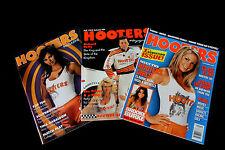 3 Hooters Magazine #8 #52 1st Newsstand Sexy Calendar Girl Pin Up Bikini Models