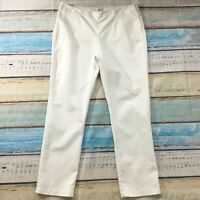 Chicos Womens Pants 16 new White Slim Straight Slimming Size Zip Cotton Stretch