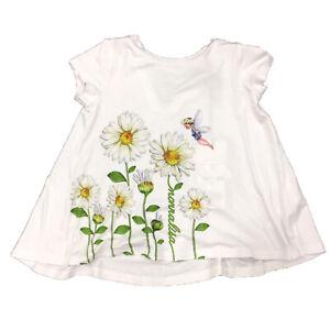 Monnalisa Bambina 193607SA Bianco T-Shirt Estate