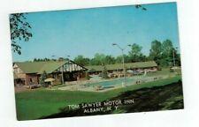 NY Albany New York vintage post card Tom Sawyer Motor Inn