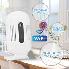 Smart WIFI ECO2 Messgerät HCHO TVOC Luftqualität Temperatur Sensor Detektor