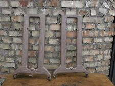 Vintage retro industrial table cast iron base furniture 28 in