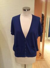 Oui Cardigan Size 12 Blue Bnwt Rrp £85 Now £17