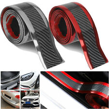 Accessories Carbon Fiber Vinyl Car Door Sill Scuff Cover Plate Sticker Protector
