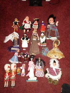 Lot Of 17 Different Dolls Required By Someone In the military that traveled