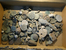 Huge Collection of Unsorted Metal Detecting Finds 1kg+ (Roman to Modern)