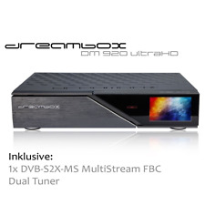 Dreambox DM920 UHD E2 Linuxreceiver mit 1x DVB-S2X-MS MultiStream FBC Dual Tuner