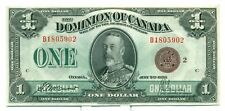 1923 The Dominion of Canada $1 Bank Note B18059021 CH UNC BC25I