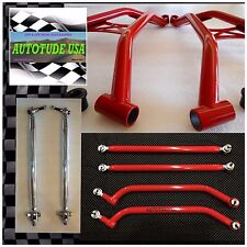 ARCHED CHROMOLY A-ARMS + RADIUS BARS +HD TIE RODS '18 RZR XP 1000, RAW UNPAINTED
