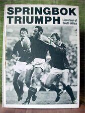 SPRINGBOK TRIUMPH: LIONS TOUR OF SOUTH AFRICA; Rubython & Bishop; Hardback, 1980
