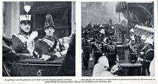 Roi Manuel v. portugal & roi Alfons v. Espagne historique des enregistrements de 1909