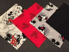 "32 Mickey and Minnie Mouse 5"" x 5"" Quilting Quilt Squares cotton Disney Comic"