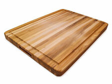 Proteak 108 Teak Cutting Board with Groove 24 x 18 x 1.5 inch - NEW