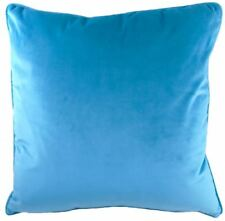 """LUXURY EVANS LICHFIELD ROYAL VELVET TEAL BLUE PIPED SUPERSOFT CUSHION COVER 17"""""""