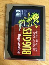 NEW WACKY PACKAGES CHROME 2014 LOST WACKYS CARD BUGGIES BUGS KILL 3 INSECTS BITE