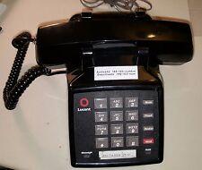 2 each Lucent 2500YMGM-003 Vintage Black Push Button Desk Phone