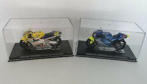 Honda NSR500 Valentino Rossi & Yamaha YZR500 Shinya Nakano 2001 In Display Cases