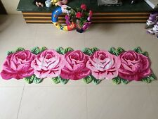 Rose Shaped Rug Handmade Sofa Rug Runner Bedroom Mats Area Rugs Home Decor Newly