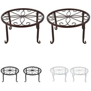 Plant Pot Stands, Indoor and Outdoor Flower Pot Stand, Round Shelf for Gard O1F5