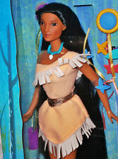 Disney barbie mattel pocahontas braided Beauty Doll 90 década de años NRFB a. konvult