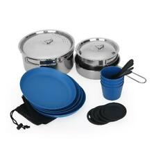 Ozark Trail 22-Piece Outdoor Camping Cook and Eat Set with Mesh Carrying Bag