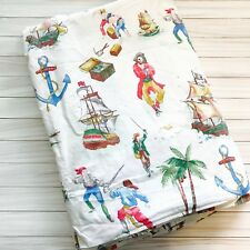 Vintage The Company Store Cotton Twin Duvet Cover Bedding Boy's Pirate Fabric