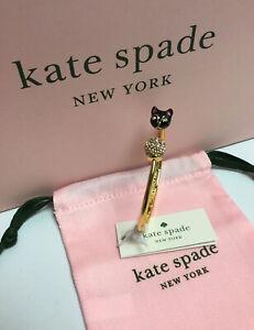 NWT Kate Spade New York House Cat Hinged Cuff Bracelet  w/ KS Dust Bag New