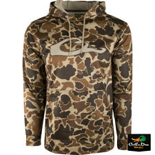 DRAKE WATERFOWL SYSTEMS CAMO PERFORMANCE HOODIE - OLD SCHOOL CAMO