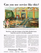 1932 Armstrong Linoleum Flooring Floors Kirby Health Center Vtg Print Ad