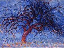 PAINTING PIET MONDRIAN 1908 EVENING RED TREE LARGE WALL ART PRINT POSTER LF2195